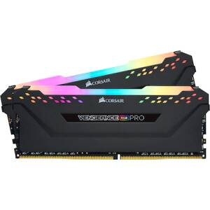 Memorie Corsair Vengeance RGB PRO 16GB, DDR4, 3600MHz, CL18, Dual Channel Kit
